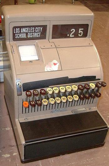 Manual cash register